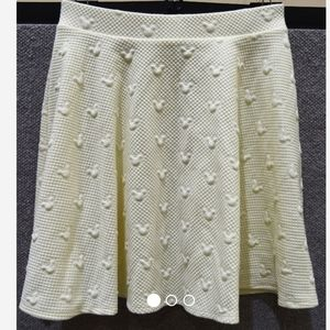 DISNEY White Quilted Skirt Size XS